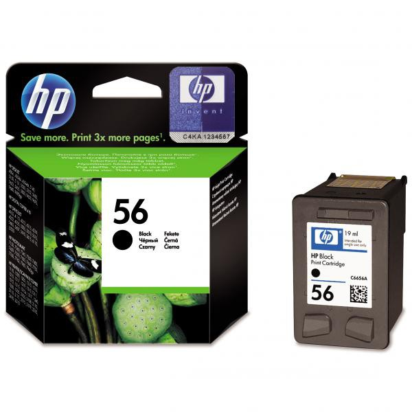 HP originál ink C6656AE, HP 56, black, blister, 520str., 19ml, HP DeskJet 450, 5652, 5150, 5850, psc-7150, OJ-6110
