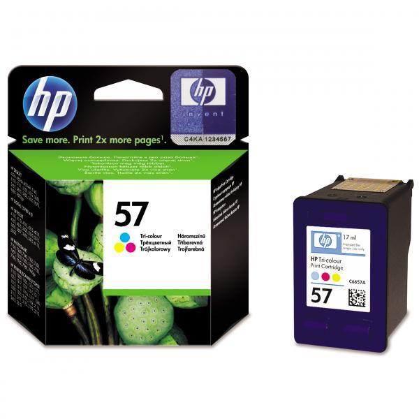 HP originál ink C6657AE, HP 57, color, blister, 500str., 17ml, HP DeskJet 450, 5652, 5150, 5850, psc-7150, OJ-6110
