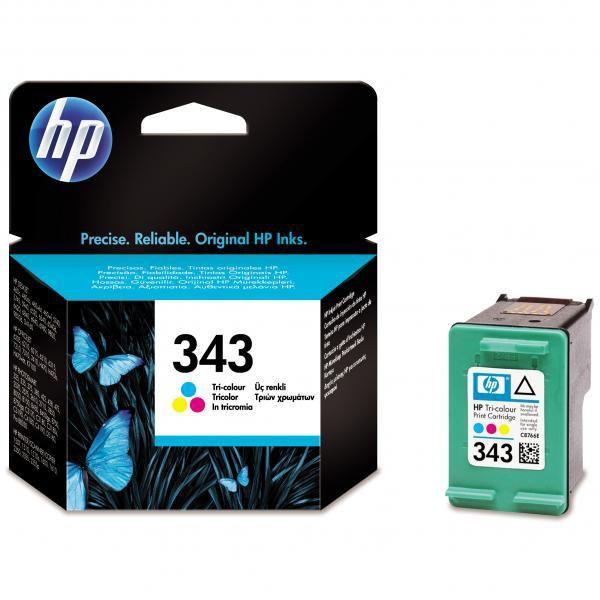 HP originál ink C8766EE, HP 343, color, blister, 260str., 7ml, HP Photosmart 325, 375, OJ-6210, DeskJet 5740