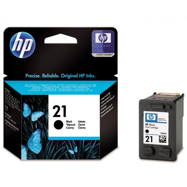 HP C9351AE - originálna cartridge HP 21, čierna, 5ml