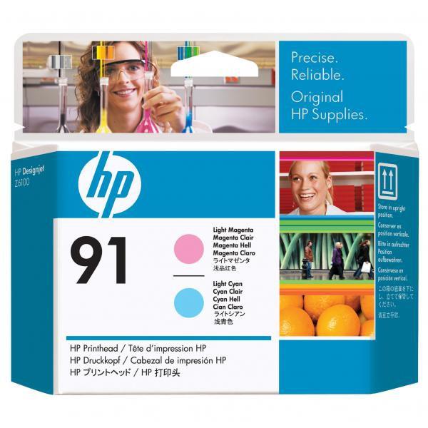 HP C9462A - originálna tlačová hlava HP 91, svetlo azúrová