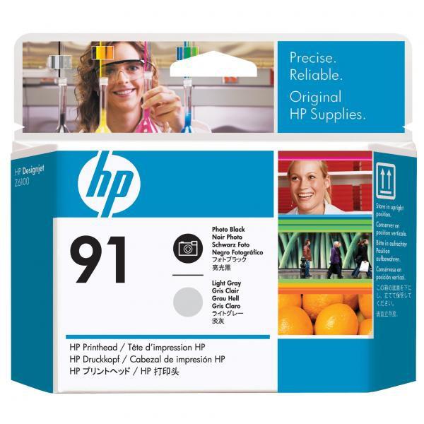 HP C9463A - originálna tlačová hlava HP 91, svetlo sivá