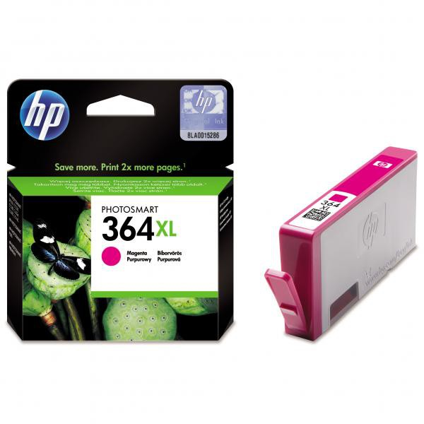 HP originál ink CB324EE, HP 364XL, magenta, blister, 750str., HP Photosmart B8550, C5380, D5460