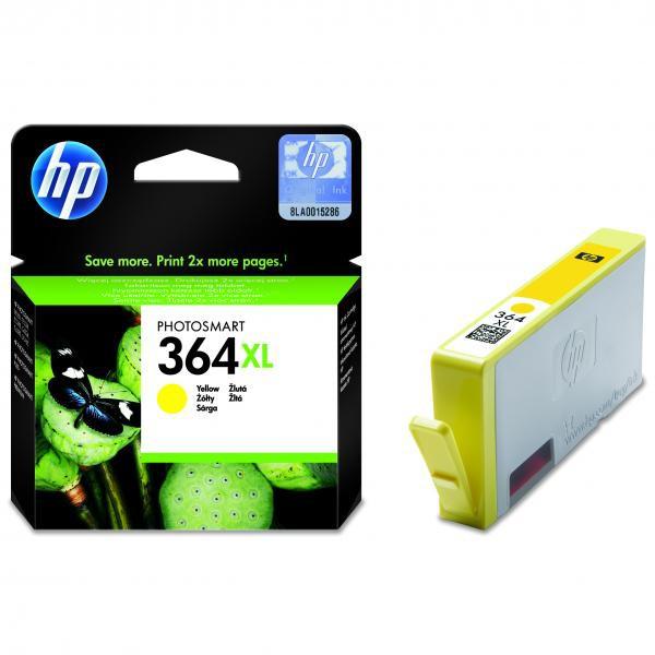 HP originál ink CB325EE, HP 364XL, yellow, blister, 750str., HP Photosmart B8550, C5380, D5460