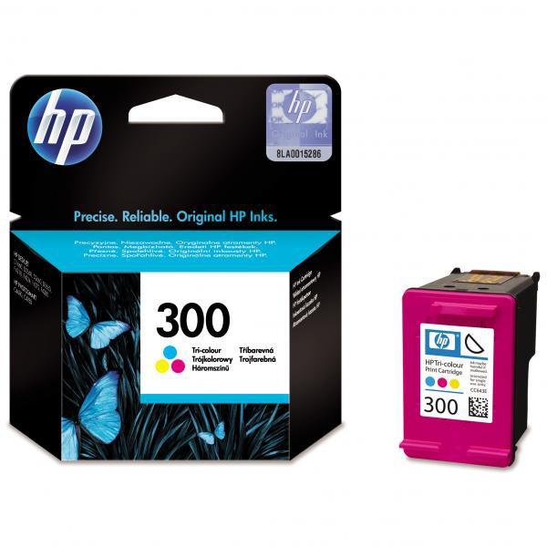 HP originál ink CC643EE, HP 300, color, 165str., 4ml, HP DeskJet D2560, F4280, F4500