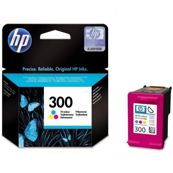 HP originál ink CC643EE, HP 300, color, blister, 165str., 4ml, HP DeskJet D2560, F4280, F4500