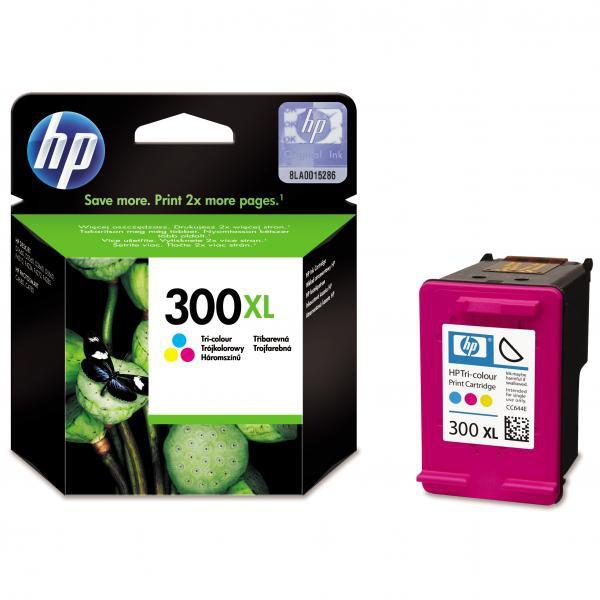 HP originál ink CC644EE, HP 300XL, color, 440str., 11ml, HP DeskJet D2560, F4280, F4500