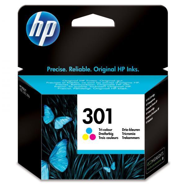 HP originál ink CH562EE, HP 301, color, 165str., HP HP Deskjet 1000, 1050, 2050, 3000, 3050
