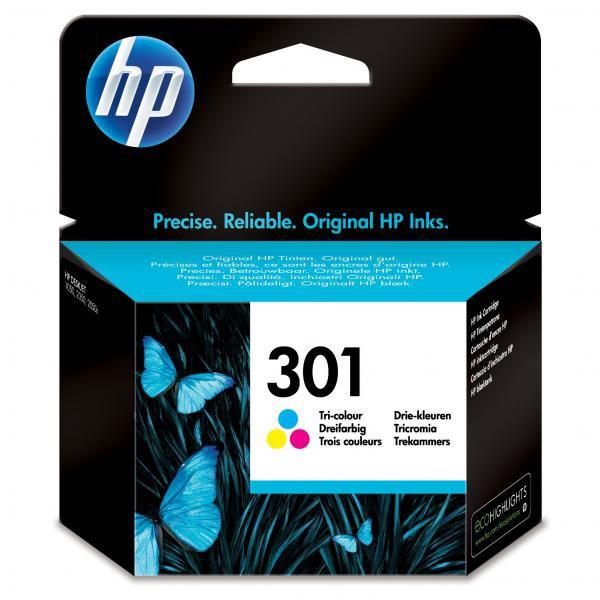 HP originál ink CH562EE, HP 301, color, blister, 165str., HP HP Deskjet 1000, 1050, 2050, 3000, 3050