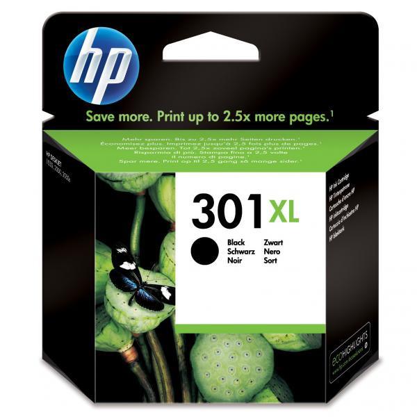 HP originál ink CH563EE, HP 301XL, black, 480str., HP HP Deskjet 1000, 1050, 2050, 3000, 3050