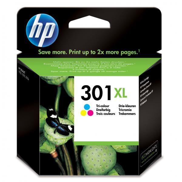 HP originál ink CH564EE, HP 301XL, color, 330str., HP HP Deskjet 1000, 1050, 2050, 3000, 3050