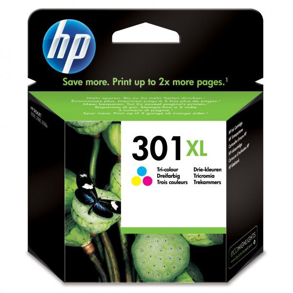 HP originál ink CH564EE, HP 301XL, color, blister, 330str., HP HP Deskjet 1000, 1050, 2050, 3000, 3050