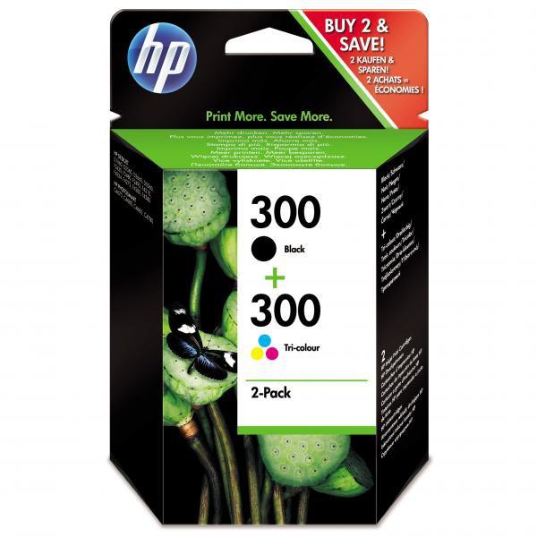 HP originál ink CN637EE, HP 300, black/color, 2 x 200str., 2x4ml, HP HP Deskjet F4500