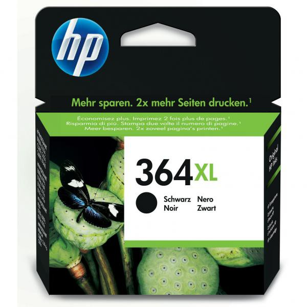 HP originál ink CN684EE, HP 364XL, black, blister, 550str., 18ml, HP Photosmart e-All-in-One, Premium, Plus, C5380