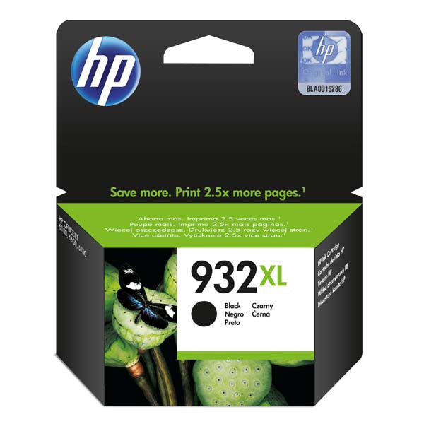 HP originál ink CN053AE, HP 932XL, black, 1000str., HP Officejet 6100, 6600, 6700, 7110, 7610, 7510