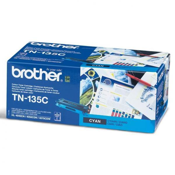BROTHER TN-135 - originálny toner, azúrový, 4000 strán