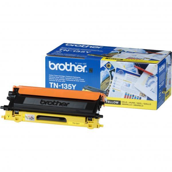 BROTHER TN-135 - originálny toner, žltý, 4000 strán