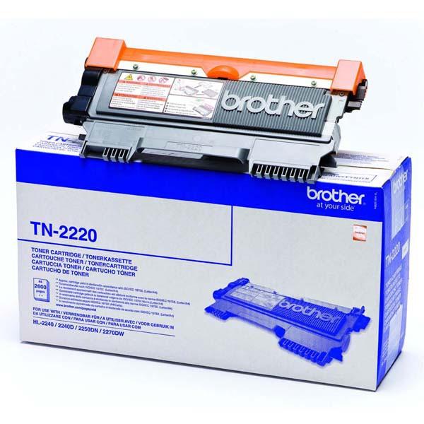 BROTHER TN-2220 - originálny toner, čierny, 2600 strán