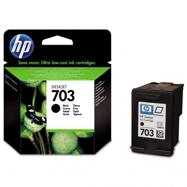 HP CD887AE - originálna cartridge HP 703, čierna, 4ml