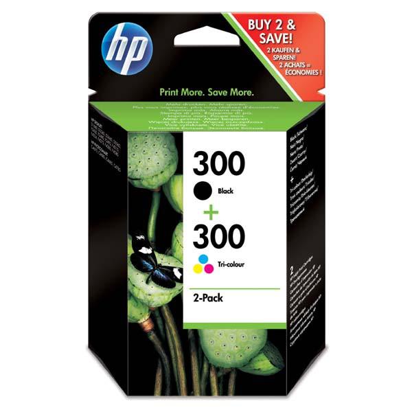 HP originál ink CN637EE, HP 300, black/color, blister, 2 x 200str., 2x4ml, HP 2-pack, CC640EE a CC643EE, DeskJet D2560, F4280