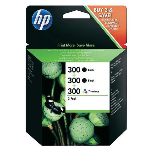 HP originál ink SD518AE, HP 300, 2-black/3-color, 1x165/2x200str., SD518AE, HP HP DeskJet F4500
