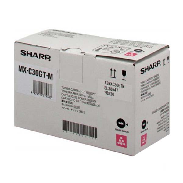 Sharp originál toner MX-C30GTM, magenta, 6000str., Sharp MX-C250FE/C300WE
