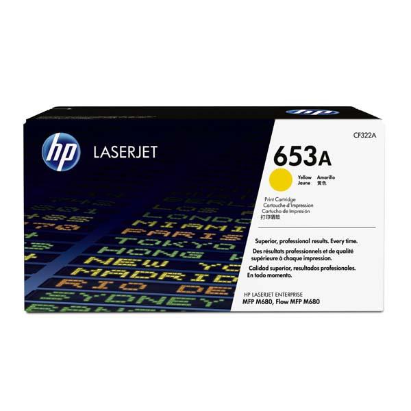 HP CF322A - originálny toner HP 653A, žltý, 16500 strán