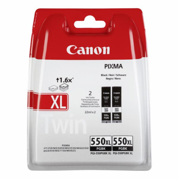 Canon originál ink XL 6431B005, black, blister s ochranou, 2x22ml, Canon MAXIFY MG6650, PIXMA iP8750, iX6850, MG5550, MG565