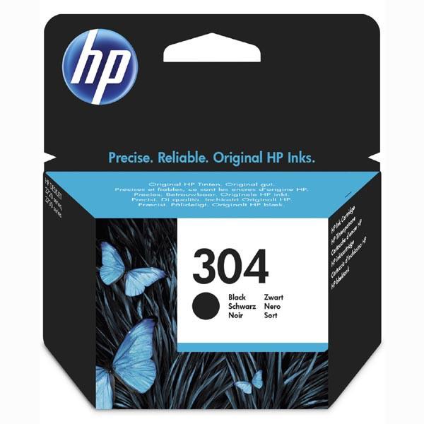 HP N9K06AE - originálna cartridge HP 304, čierna, 4ml