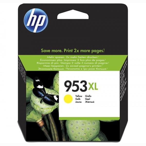 HP originál ink F6U18AE, HP 953XL, yellow, blister, 1600str., 20ml, high capacity, HP