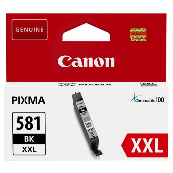 Canon originál ink CLI-581BK XXL, black, 11.VIIml, 1998C001, very high capacity, Canon PIXMA TR7550, TR8550, TS6150, TS8150, TS915