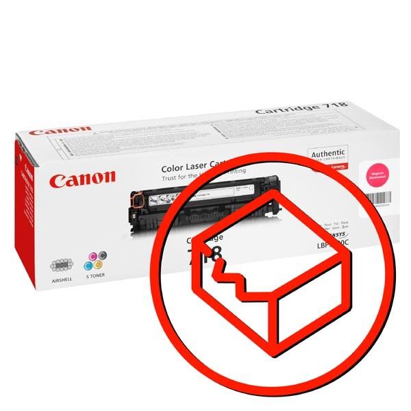 Canon originál toner s poškodeným obalom CRG718, magenta, 2900str., 2660B002, 2660B011, Canon LBP-7200Cdn, poškodený obal