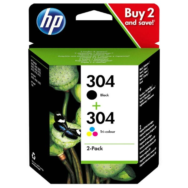 HP 3JB05AE - originálna cartridge HP 304, čierna + farebná, 2x4ml