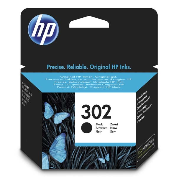 HP F6U66AE - originálna cartridge HP 302, čierna, 190 strán