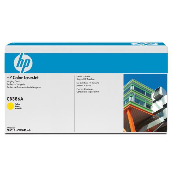 HP CB386A - originálna optická jednotka, žltá, 35000 strán