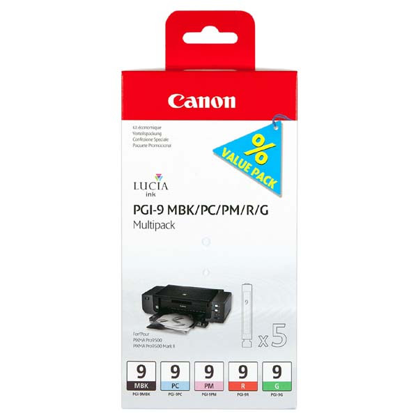 Canon originál ink PGI9, MBK/PC/PM/R/G, 1033B013, Canon iP9500