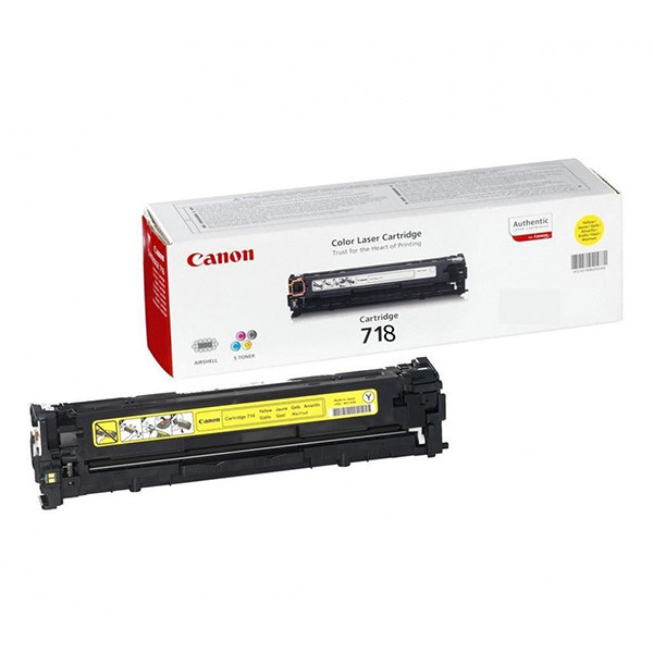 Canon originál toner CRG718, yellow, 2900str., 2659B014, Canon LBP-7200Cdn, poškodený obal